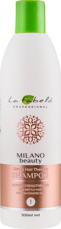 Шампунь восстанавливающий для ломких волос - La Fabelo Professional Milano Beauty Skin&Hair Therapy Shampoo