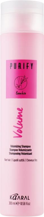 Шампунь для тонких волос с экстрактом бамбука - Kaaral Purify Volume Shampoo