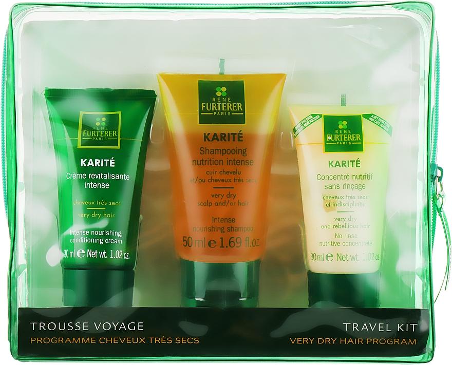 Набор - Rene Furterer Karite Gift Set (cr/cond/30ml + shm/50ml + lot/30ml)