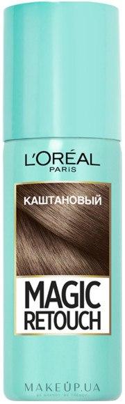 Тонирующий спрей для волос - L'Oreal Paris Magic Retouch — фото Каштановый