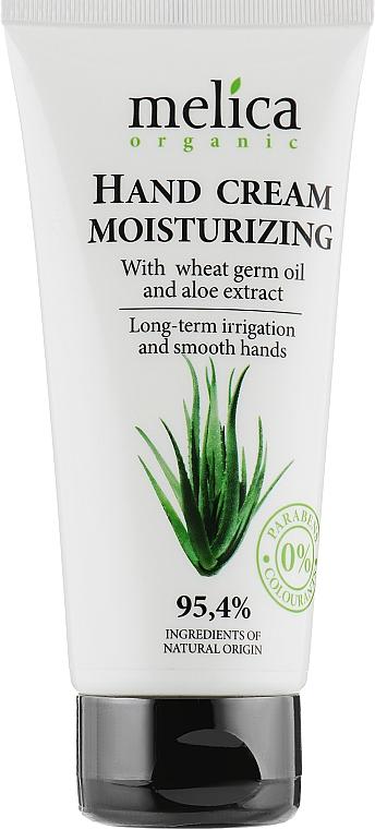 Крем для рук с маслом зародышей пшеницы и экстрактом алоэ - Melica Organic With Hand Cream Moisturizing