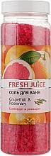 Духи, Парфюмерия, косметика Соль для ванны - Fresh Juice Grapefruit and Rosemary