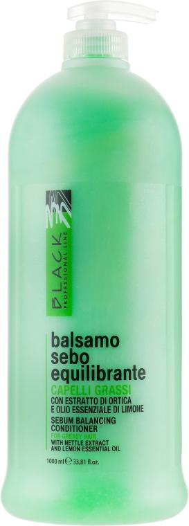 Себорегулирующий бальзам для жирных волос - Black Professional Line Sebum-Balancing Conditioner