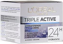 Духи, Парфюмерия, косметика Увлажняющий ночной крем для всех типов кожи - L'Oreal Triple Active Hydrating Night Cream 24H For All Skin Types