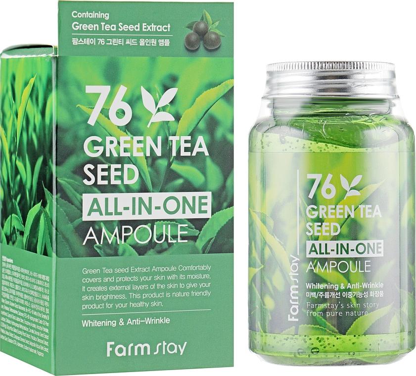 Ампульная сыворотка с зеленым чаем - FarmStay All-In-One 76 Green Tea Seed Ampoule