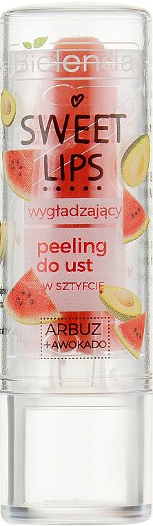 "Разглаживающий скраб для губ ""Арбуз + авокадо"" - Bielenda Sweet Lips Smoothing Lip Scrub"