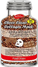 Духи, Парфюмерия, косметика Коллагеновая маска с маслом какао - Purederm Choco Cacao Collagen Mask