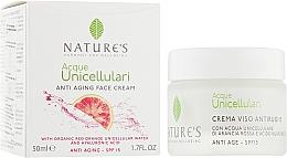 Духи, Парфюмерия, косметика Крем антивозрастной для лица - Nature's Acque Unicellulari Anti-Aging Cream SPF 15