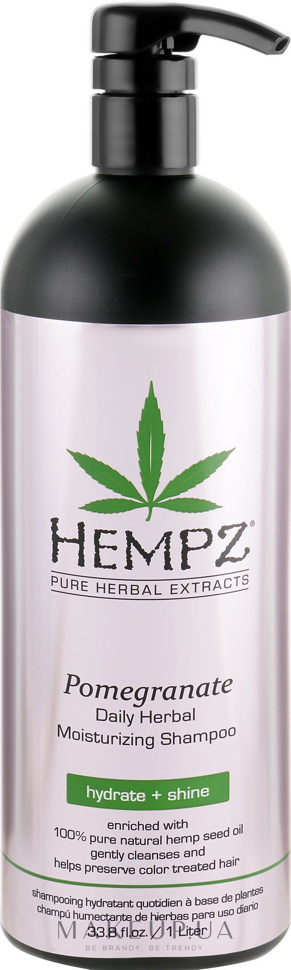 "Шампунь для волос ""Гранат"" увлажняющий - Hempz Daily Herbal Moisturizing Pomegranate Shampoo — фото 1000ml"