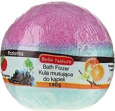 Духи, Парфюмерия, косметика Бурлящий шарик для ванны, фиолетово-голубой - Belle Nature