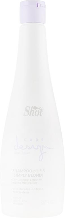 Шампунь для осветленных и мелированных волос - Shot Care Design Simply Blond Shampoo
