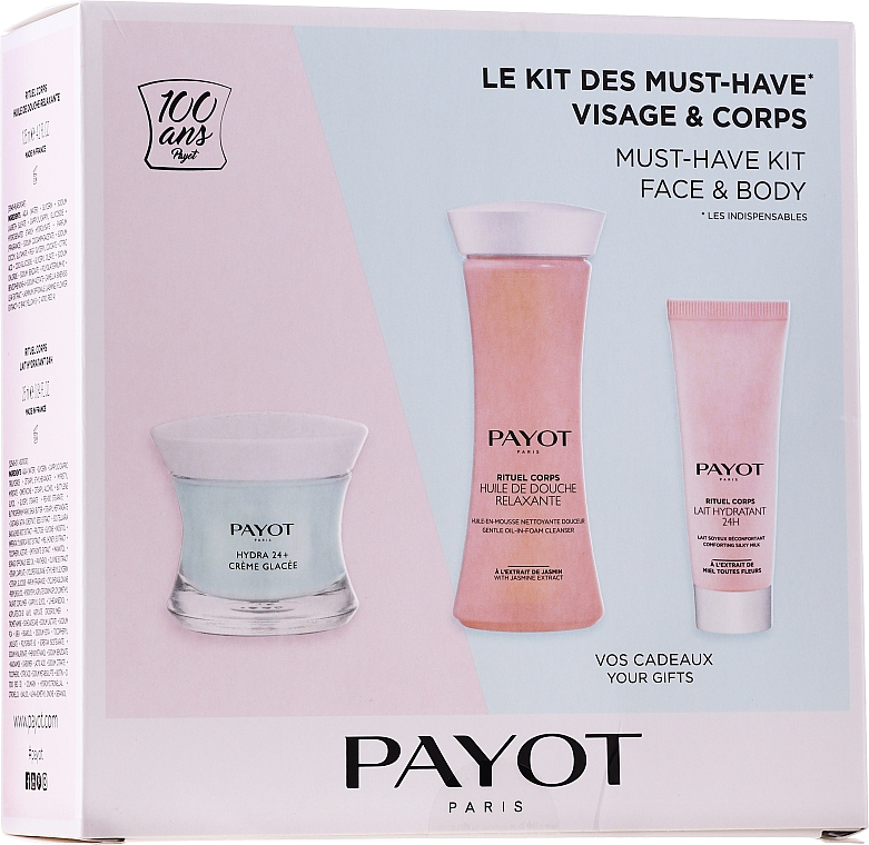 Набор - Payot Hydra 24+ Must-Have Kit Face & Body (cr/50ml + sh/oil/125ml + b/lot/25ml)