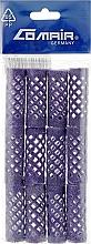 Духи, Парфюмерия, косметика Бигуди металлические, короткие, фиолетовые, 15 мм - Comair
