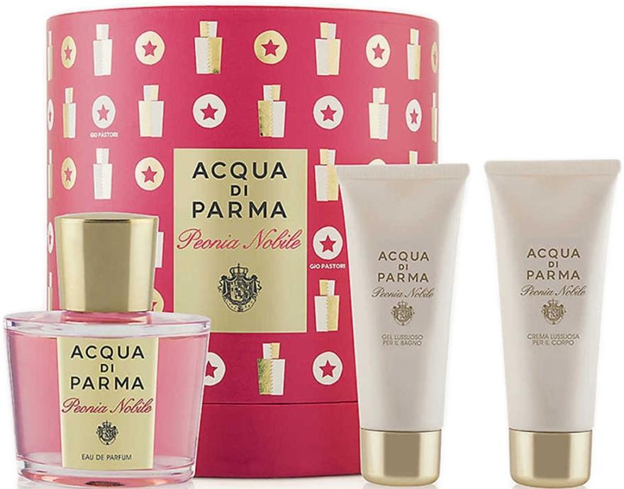 Acqua di Parma Peonia Nobile Set - Набор (edp/100ml + sh/gel/75ml + b/cr/75ml)
