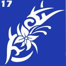Духи, Парфюмерия, косметика Трафарет для боди-арта, 6х6 см, 17 - Biofarma