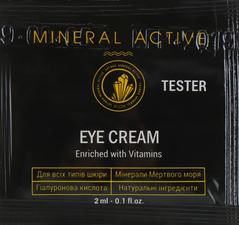 Крем для кожи вокруг глаз - Satara Mineral Active Eye Cream (пробник)