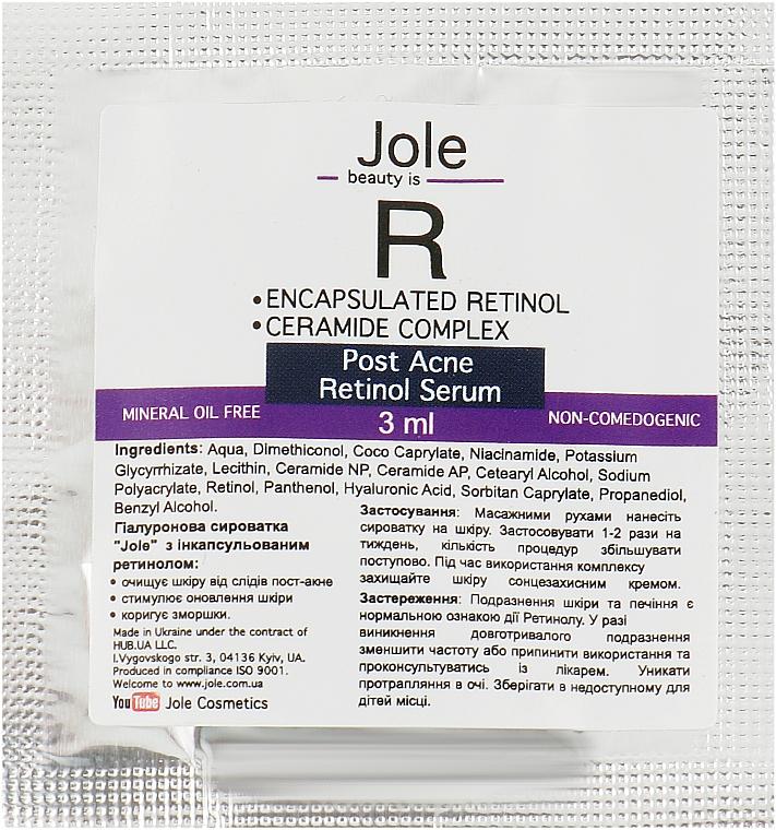 Сыворотка от следов постакне с ретинолом, гиалуроновой кислотой, керамидами - Jole Retinol encapsulated for Post-Acne Serum (пробник)