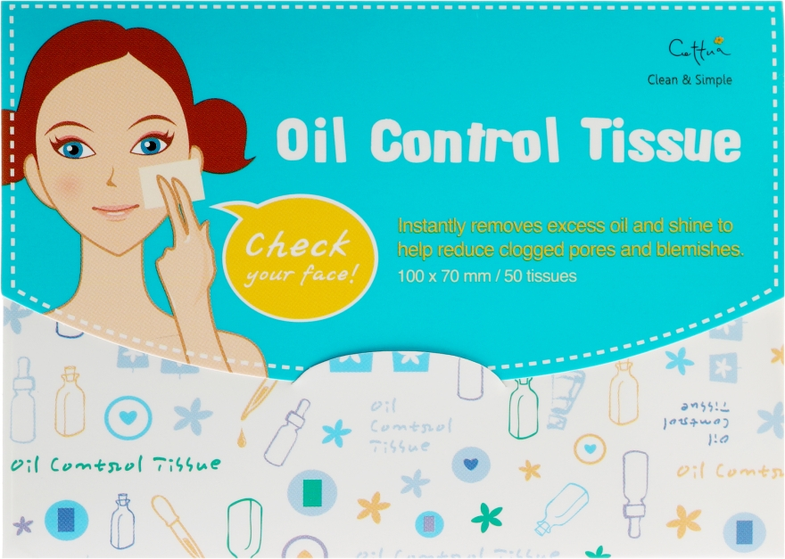 Матирующие салфетки для лица - Cettua Cleansing Mat Tissues