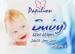 Духи, Парфюмерия, косметика Детские влажные салфетки 20 шт. - Papilion Wet Wipes Baby