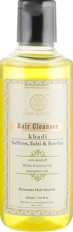 """Натуральный аюрведический шампунь из индийских трав """"Шафран, тулси и рита"""" - Khadi Natural Honey & Lemon Juice Hair Cleanser"""