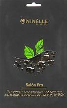 Духи, Парфюмерия, косметика Успокаивающая пузырьковая маска для лица с зеленым чаем - Ninelle Salon Pro Detox-Energy