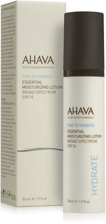 Крем легкий увлажняющий SPF 15 - Ahava Essential Moisturizing Lotion Broad