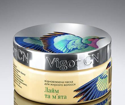 Восстанавливающая маска для жирных волос «Лайм и Мята» - Vigor Mask