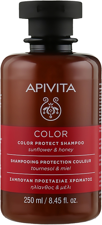 Шампунь для волос с подсолнечником и медом - Apivita Propoline Shampoo For Colored Hair