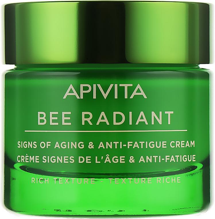 Крем против старения и потери упругости кожи - Apivita Bee Radiant Signs Of Aging & Anti-Fatigue Cream Rich Texture