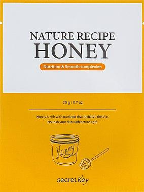 "Маска для лица тканевая ""Nutrition & Smooth"" - Secret Key Nature Recipe Honey"