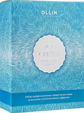 РАСПРОДАЖА Набор - Ollin Professional Ice Cream (shm/250ml + cond/250ml + spray/250ml) *