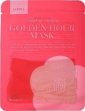 Духи, Парфюмерия, косметика Укрепляющая тканевая маска для лица - Elroel Golden Hour Mask Camellia Firming