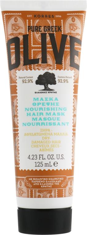 Маска для сухих поврежденных волос - Korres Pure Greek Olive Nourishing Hair Mask