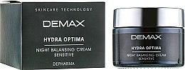 Духи, Парфюмерия, косметика Ночной крем для лица - Demax Hydra Optima Night Balansing Cream Sensitive