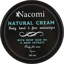 Духи, Парфюмерия, косметика Крем для тела - Nacomi Only For Men Natural Cream