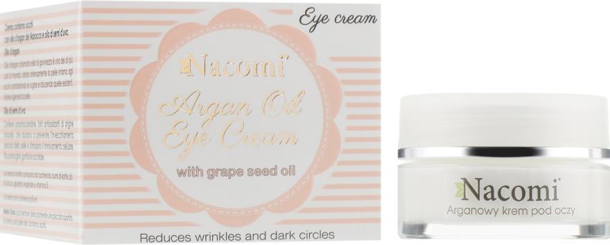 Крем для кожи вокруг глаз - Nacomi Argan Oil Eye Cream