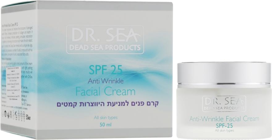 Крем для лица против морщин SPF25 - Dr. Sea Anti-Wrinkle Facial Cream SPF25