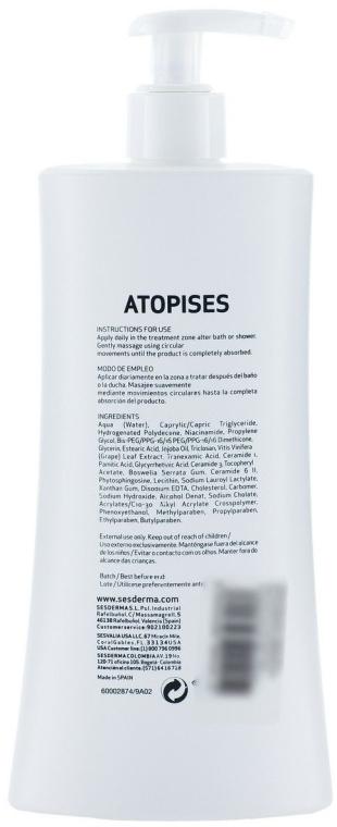 Молочко для тіла при атопічному дерматиті - SesDerma Laboratories Atopises Body Milk — фото N2