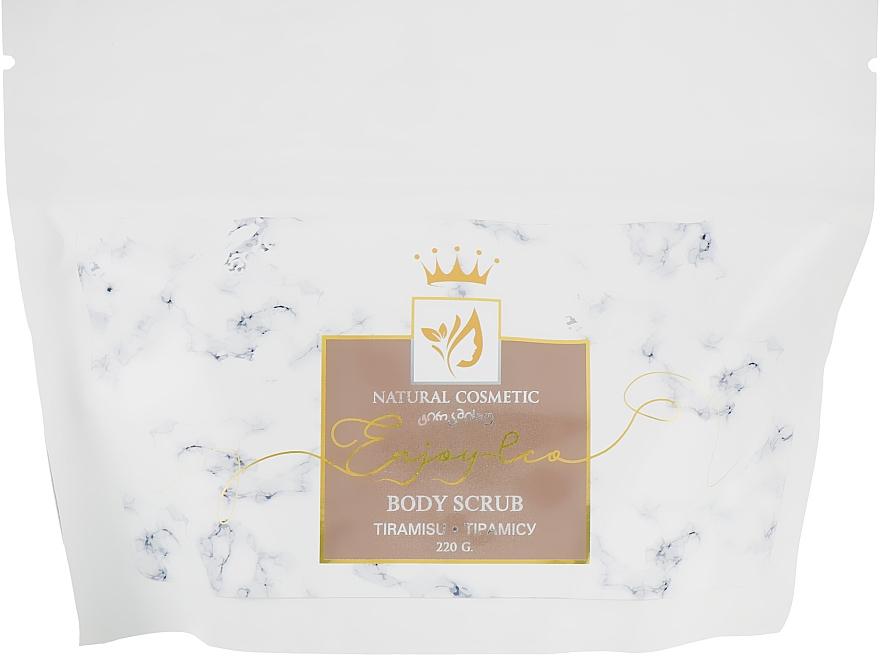 """Натуральный сахарный скраб для тела """"Тирамису"""" - Enjoy & Joy Enjoy Eco Body Scrub Tiramisu"""