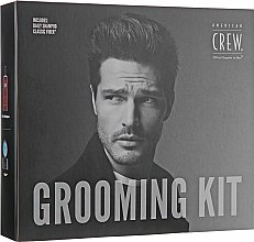 Духи, Парфюмерия, косметика Набор - American Crew Grooming Kit (shm/250ml + Fiber/85g)