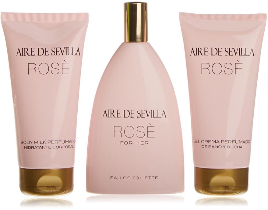 Instituto Español Aire de Sevilla Rose - Набор (edt/150ml + b/milk/150ml + sh/cr/150ml)