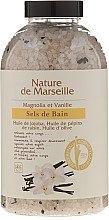 Духи, Парфюмерия, косметика Соль для ванны с ароматом магнолии и ванили - Nature de Marseille