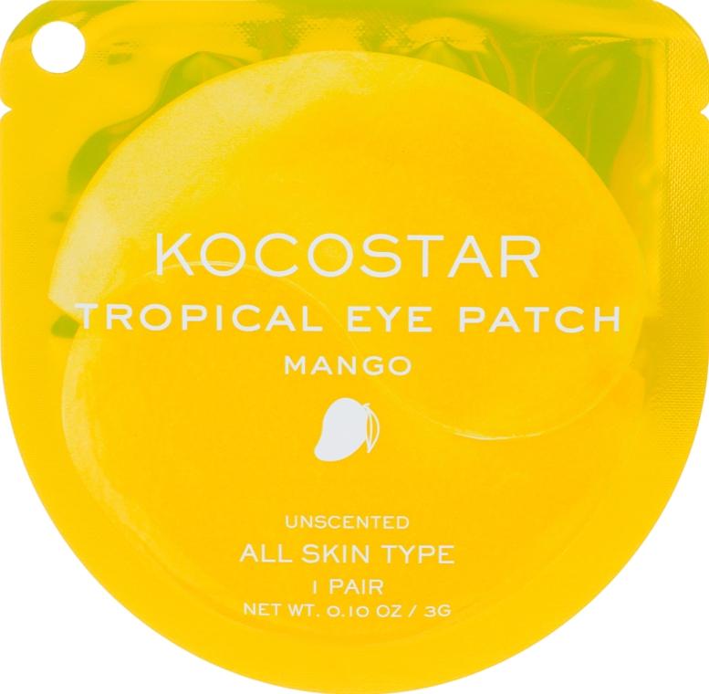 """Гидрогелевые патчи для глаз """"Тропические фрукты. Манго"""" - Kocostar Tropical Eye Patch Mango"""