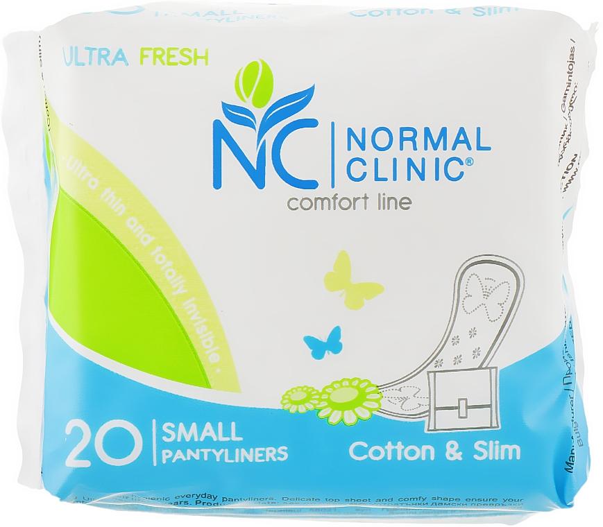 """Ежедневные прокладки """"Comfort Ultra Fresh. Cotton & Slim"""", 20 шт - Normal Clinic"""