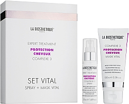 Духи, Парфюмерия, косметика Набор - La Biosthetique Protection Cheveux Set Vital Complexe 3 (spray/50ml + mask/100ml)