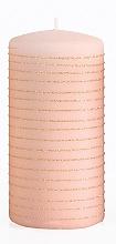 Духи, Парфюмерия, косметика Декоративная свеча, розово-золотая, 7x18 см - Artman Andalo