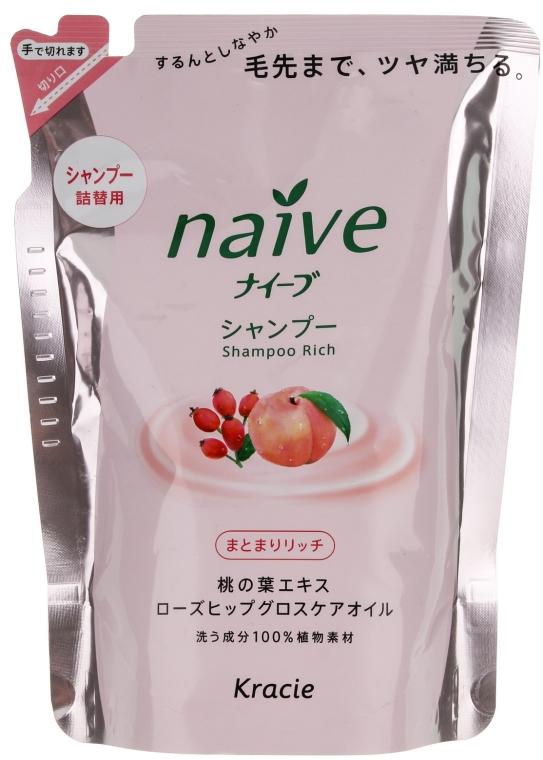 Шампунь восстанавливающий с экстрактом персика и маслом шиповника - Kanebo Naive (сменный блок)
