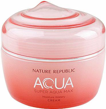 Увлажняющий крем для сухой кожи - Nature Republic Super Aqua Max Moisture Watery Cream