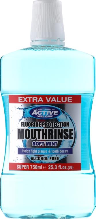 Ополаскиватель для полости рта - Beauty Formulas Active Oral Care Mouthwash Soft Mint