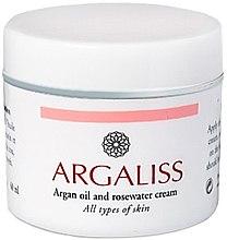 Духи, Парфюмерия, косметика Крем для всех типов кожи - Argaliss Argan Oil And Rosewater Face Cream